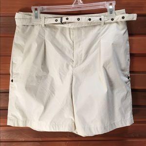 Club Monaco Shorts Size 8 Cotton White Golf Shorts